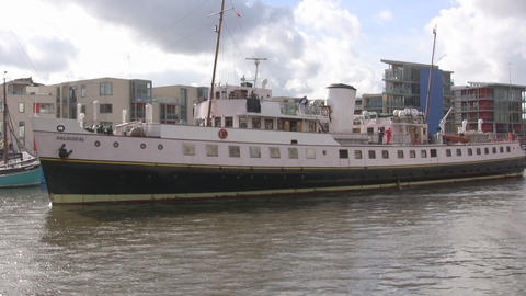 Ferry in Bristol u k Stock Video Footage