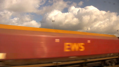 Train passing Stock Video Footage