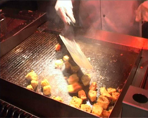 fry meat Stock Video Footage
