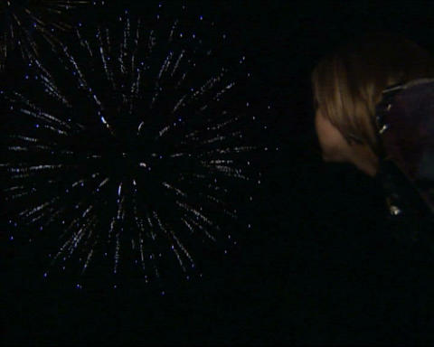 Firework people look Stock Video Footage