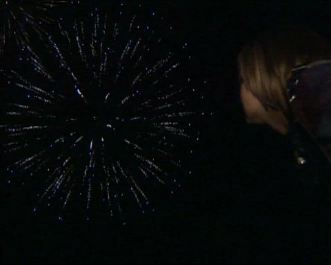 Firework people look Stock Video Footage