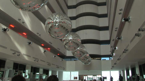 hotel hall panorama Stock Video Footage