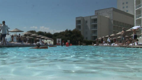 hotel pool Stock Video Footage