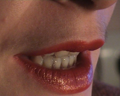 Lips women close up Stock Video Footage
