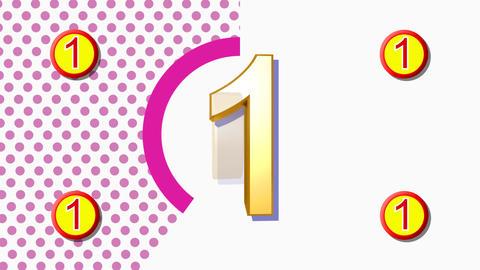 CountDown Clock 10B3 HD Stock Video Footage