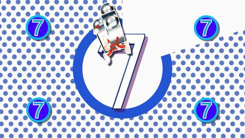 CountDown Clock 10E1 HD Stock Video Footage