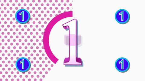 CountDown Clock 10E3 HD Stock Video Footage