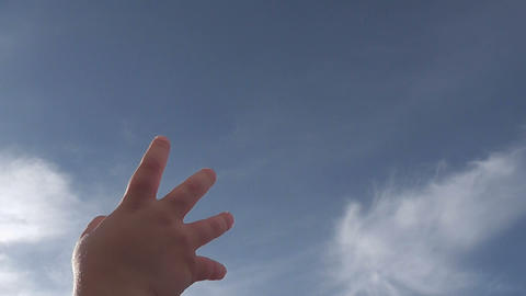 hand baby up Stock Video Footage