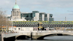 Dublin City Stock Video Footage