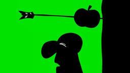 APPLE ON HEAD Stock Video Footage