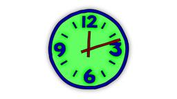 CARTOON CLOCK (30sec.vers.) Stock Video Footage