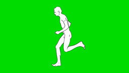 RUNNING MAN Stock Video Footage