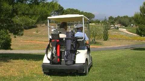 Golf cart Stock Video Footage