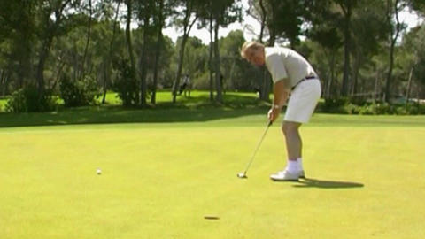 Golf - holing Stock Video Footage