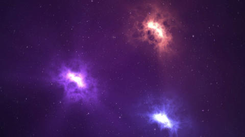 Thru the stars - Clockwise. 4K Animation