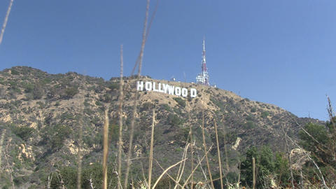 The Iconic Hollywood Sign stock footage