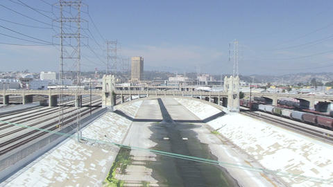 Los Angeles River stock footage