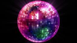 VJ Loop Disco Ball stock footage
