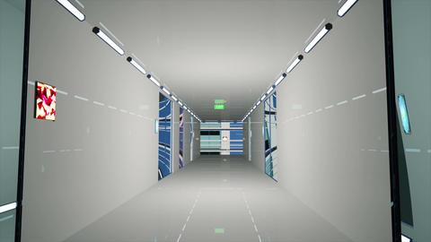 Ultra Modern Building Corridor 3 D Animation 1 Animation