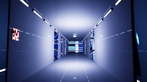Ultra Modern Building Corridor 3 D Animation 3 Animation