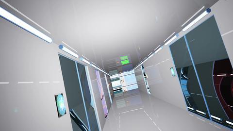 Ultra Modern Building Corridor 3 D Animation 5 Animation