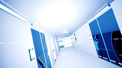 Ultra Modern Building Corridor 3 D Animation 7 Animation