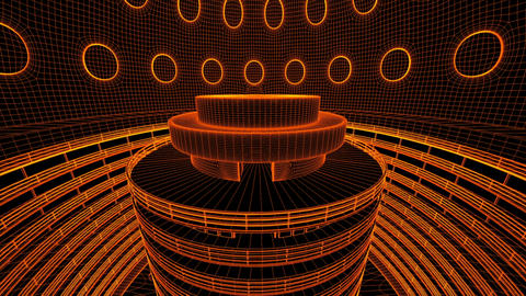 Ultra Modern Data Center Wireframe Design 3 D Anim Animation