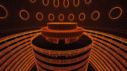 Ultra Modern Data Center Wireframe Design 3 D Anim Animation