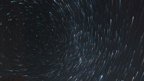 star trail time lapse stars and clouds 11589 Footage