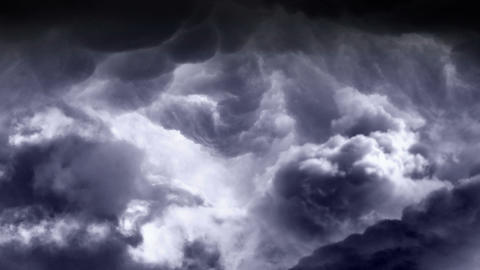 Fly Through Rain Clouds Loopable Animation