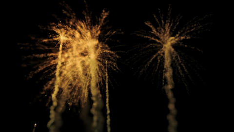 Fire Works 2 With Alpha Channel stock footage