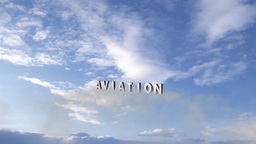 Aviation: Jet Fly-by With Title stock footage