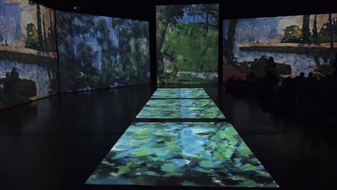 Paul Cezanne. Bathers. 4K Footage