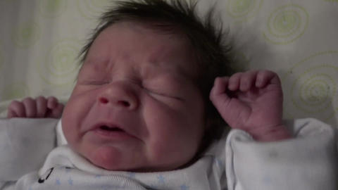 Newborn Baby Sneezing Footage