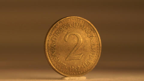 Collect Your 2 Cents Coin of Yugoslavia Footage