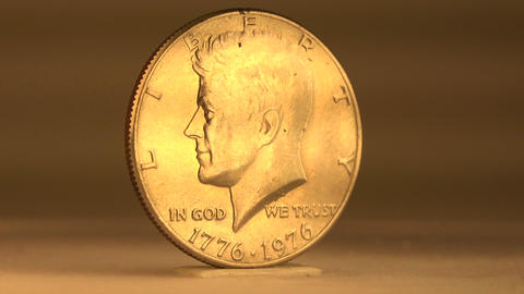 50 Cent Mint Coin from USA Bicentennial Footage