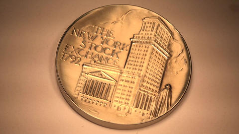 NYSE Coin stock footage