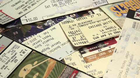 USA Sports Tickets Collection stock footage
