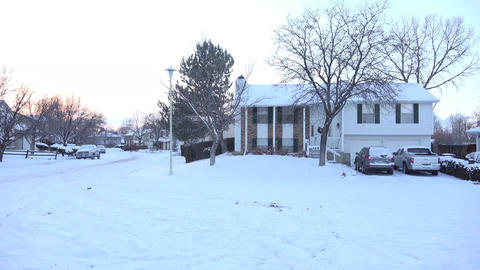 Suburban In Winter Days stock footage