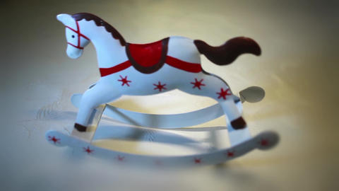 Vintage Rocking Horse stock footage