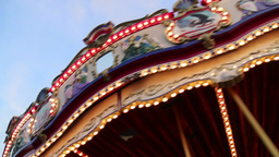 Rotating Carousel At The Fair 02 stock footage