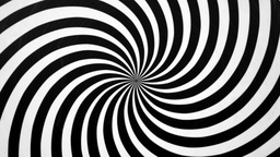 Black and White Spiral Spinning Right Live Action