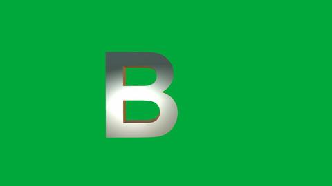 "Crumbling Alphabet ""B "" Animation: +Matte Animation"