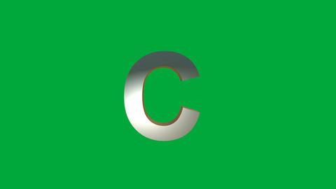 "Crumbling Alphabet ""C "" Animation: +Matte Animation"
