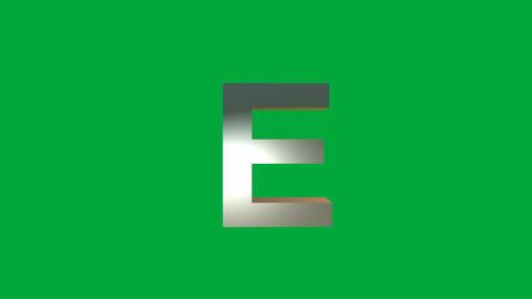 "Crumbling Alphabet ""E "" Animation: +Matte Animation"