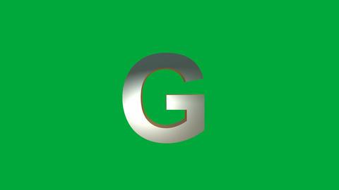 "Crumbling Alphabet "" G"" Animation: +Matte Animation"