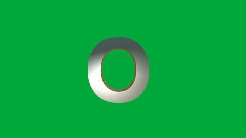"Crumbling Alphabet ""O "" Animation: +Matte Animation"