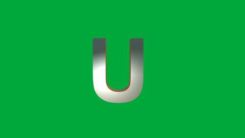 "Crumbling Alphabet ""U"" Animation: +Matte Animation"