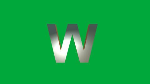 "Crumbling Alphabet ""W"" Animation: +Matte Animation"