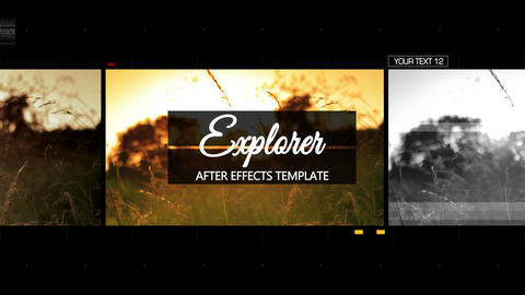 Explorer - After Effects Template After Effects Template